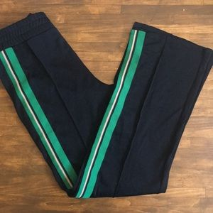 zara High waisted leggings with piped side details